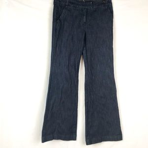 Womens Blue Wide Leg Denim Jean Trouser